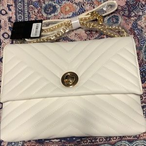 White crossbody purse
